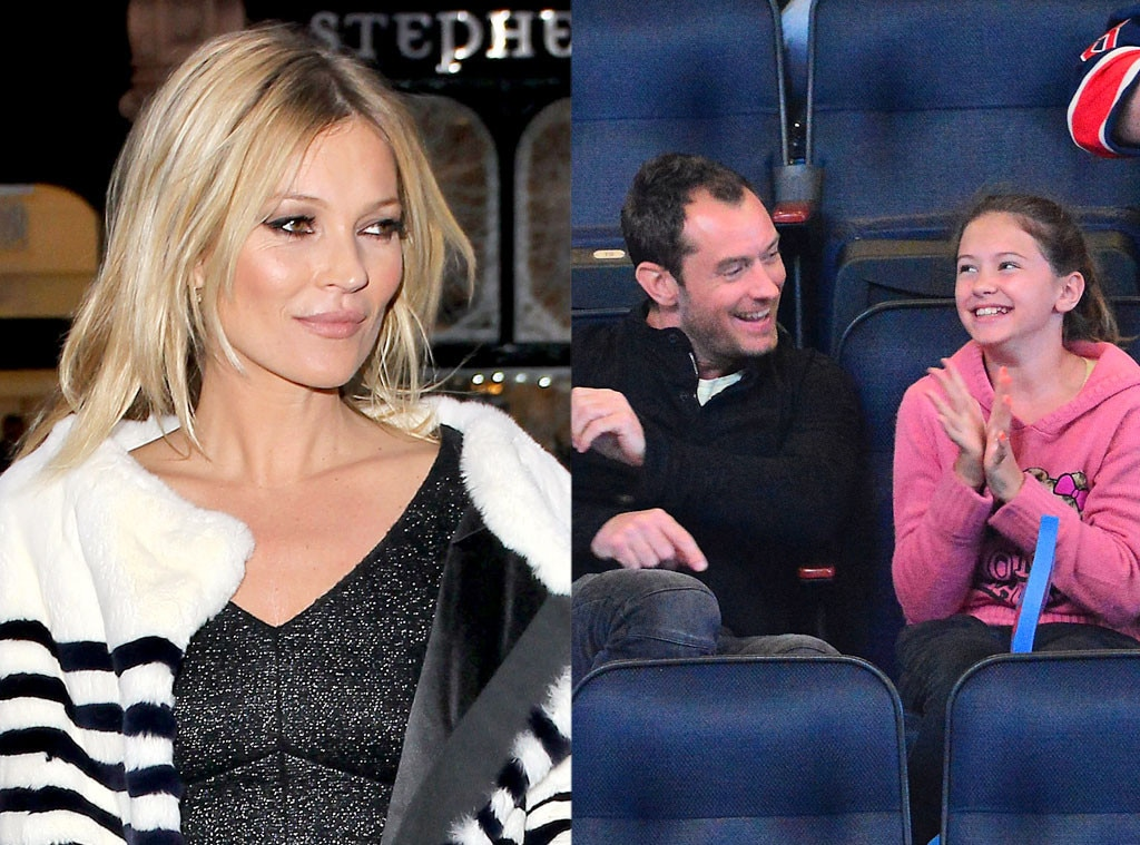 Kate Moss, Jude Law, Iris Law, Godparents