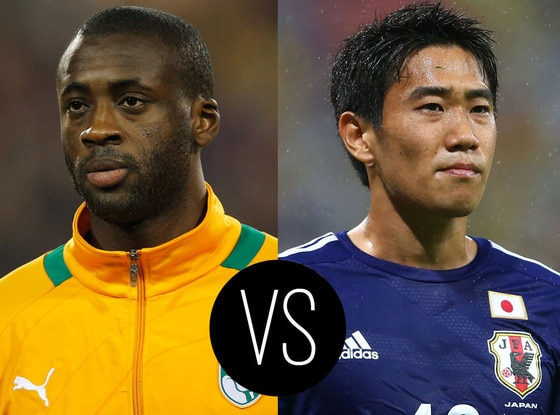 World Cup Hotties, Yaya Toure, Shinji Kagawa