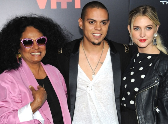 Diana Ross, Evan Ross, Ashlee Simpson