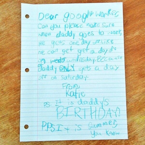 Dad Google Letter