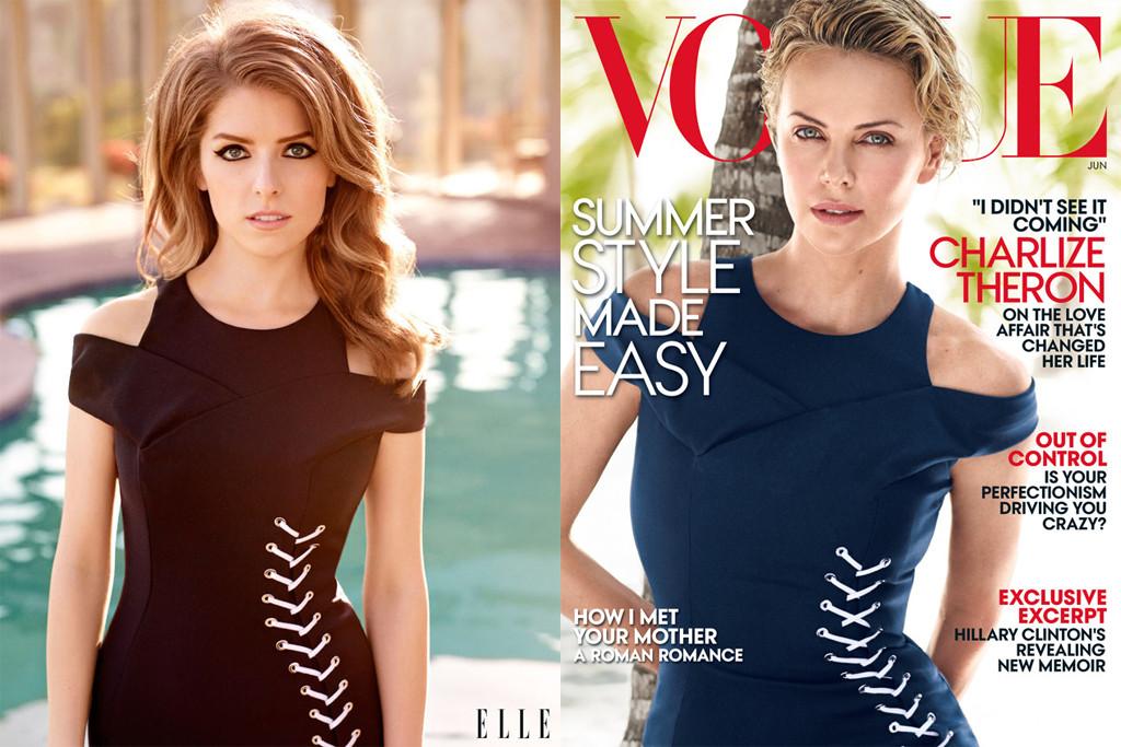 Anna Kendrick, Charlize Theron, Elle Magazine, Vogue, Twitter