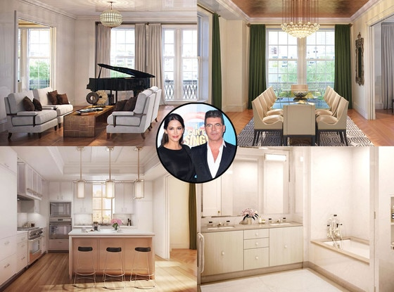 Simon Cowell, Lauren Silverman, New York Apartment