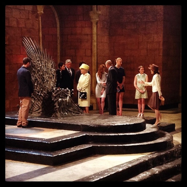 Queen Elizabeth, Game of Thrones, Instagram