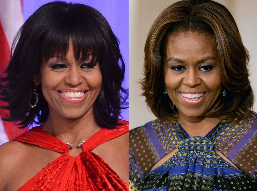 Michelle Obama, Bangs