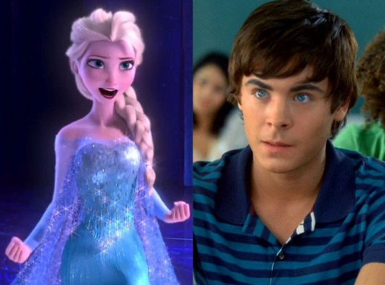 Elsa, Frozen, Zac Efron, High School Musical 2