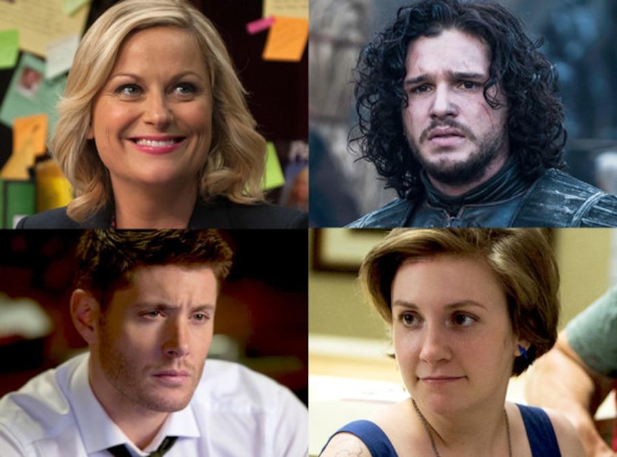 Kit Harington, Game of Thrones, Amy Poehler, Parks and Rec, Jensen Ackles, Supernatural, Lena Dunham, Girls