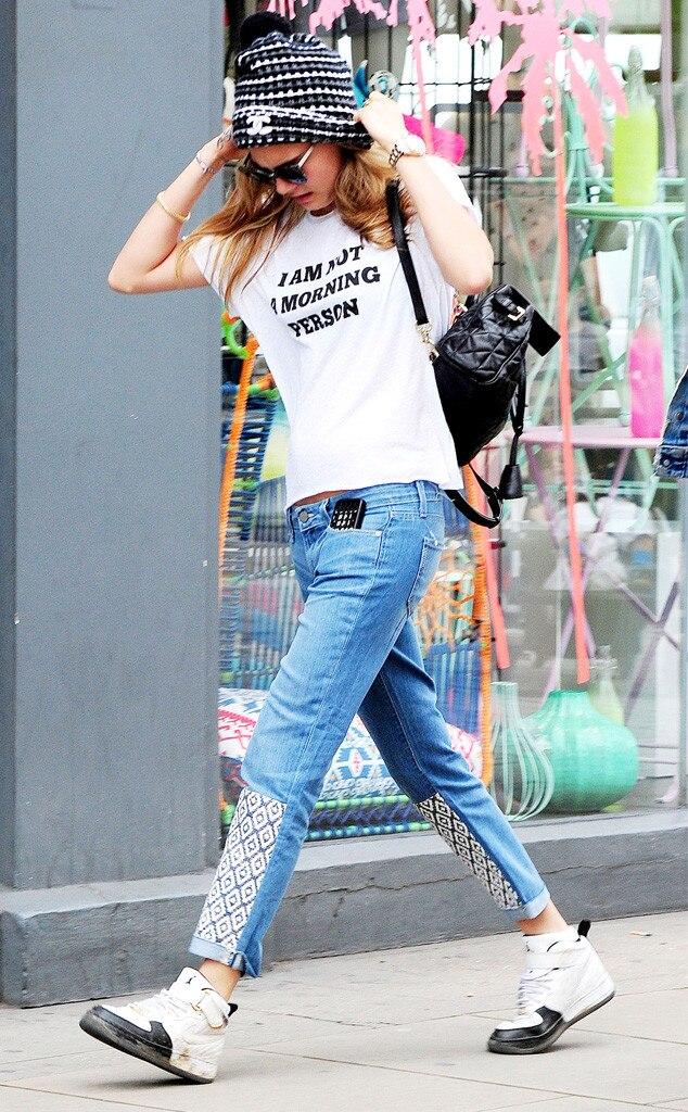 Cara Delevingne, Stars Statement T-Shirts