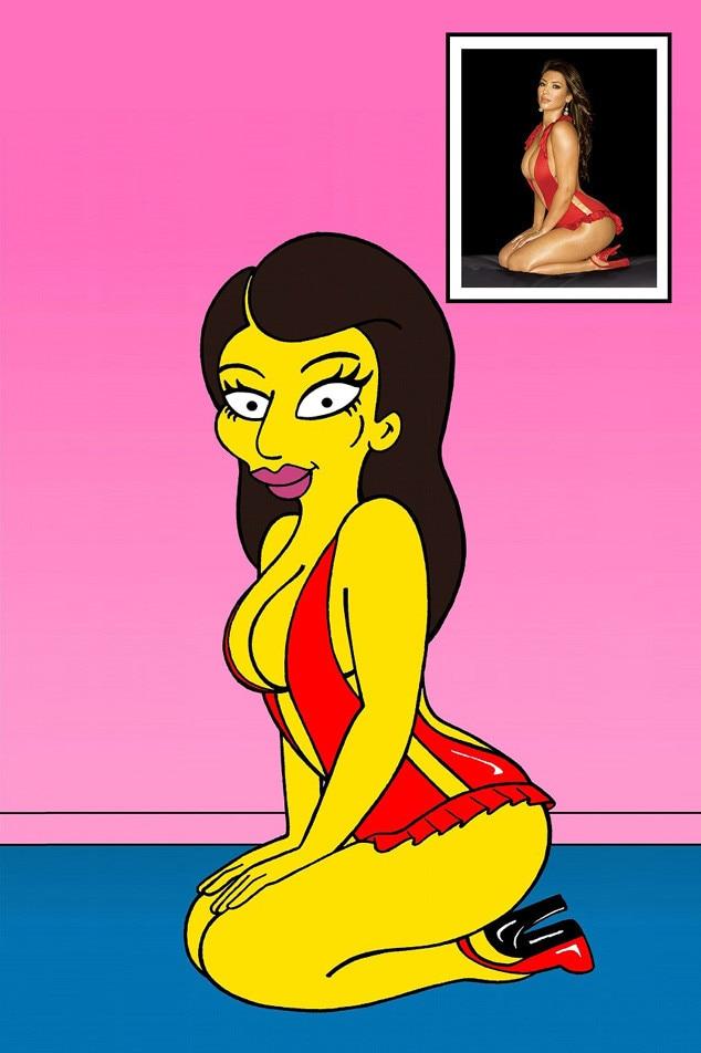 Kim Kardashian, Kanye West, Simpsons