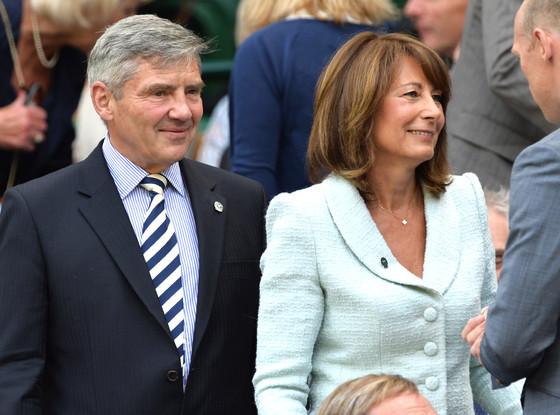Michael Middleton, Carole Middleton, Wimbledon