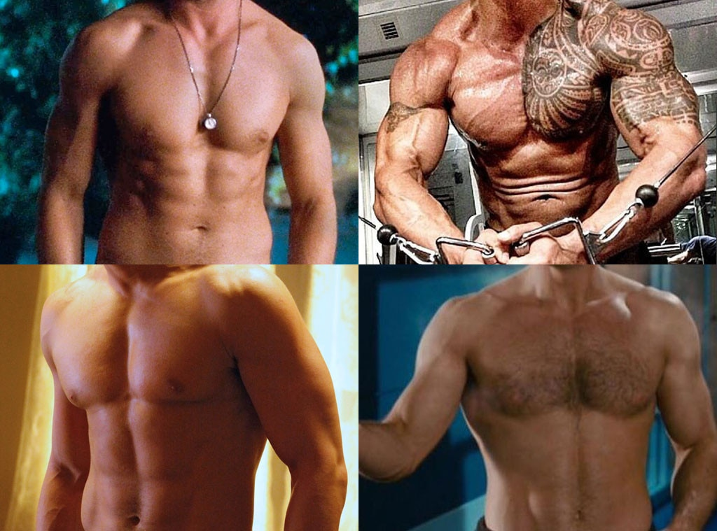 Best Chest, Chris Evans, Joe Manganiello, Ryan Gosling, The Rock