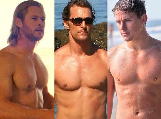 Chris Hemsworth, Matthew McConaughey, Channing Tatum, Shirtless