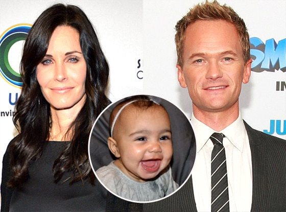 Courteney Cox, Neil Patrick Harris, North West
