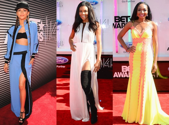 Zendaya, Gabrielle Union, Malina Moye, BET AWARDS