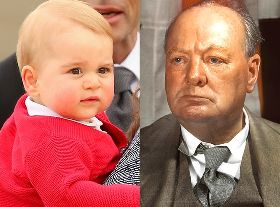 Prince George, Winston Churchill