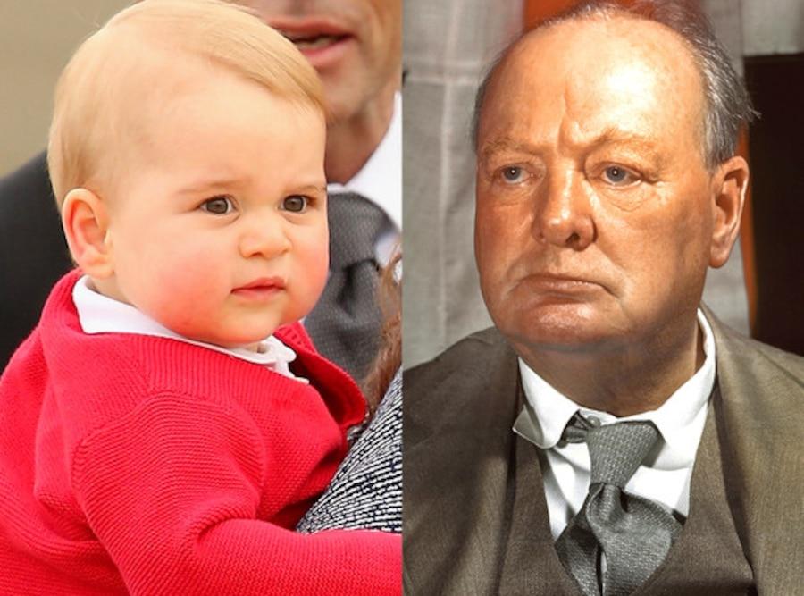 Prince George, Winston Churchill