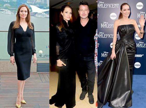 Angelina Jolie, Black Dresses