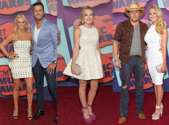 Caroline Bryan, Luke Bryan, Mary Sarah, Jason Aldean, Brittany Kerr, CMT Awards