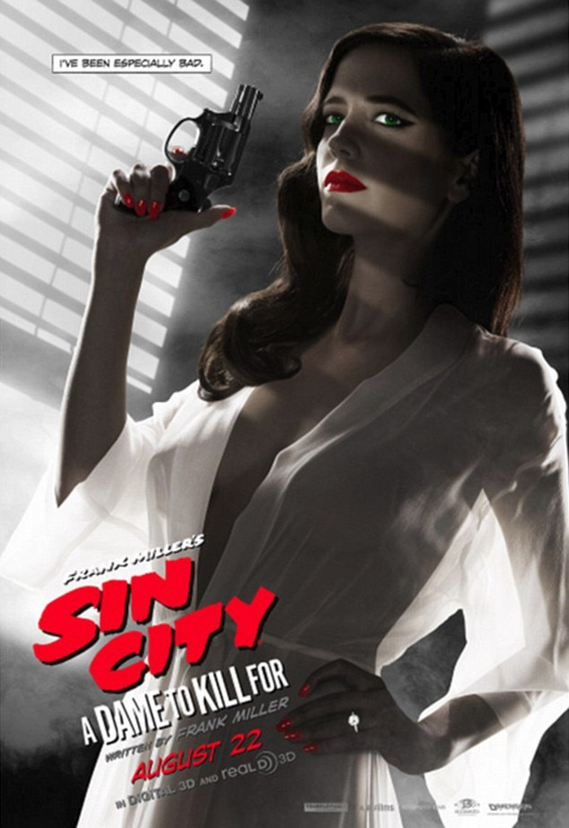 Eva Green, Sin City Poster, Edited