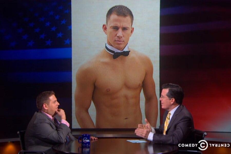 Jonah Hill, The Colbert Report, Channing Tatum