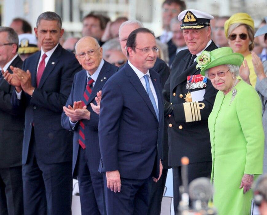 President Barack Obama, President Francois Hollande, Queen Elizabeth