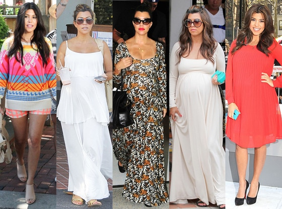 Kourtney Kardashian, Pregnancy Style