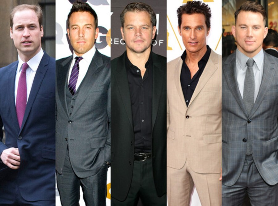 Prince William, Channing Tatum, Matthew McConaughey, Matt Damon, Ben Affleck