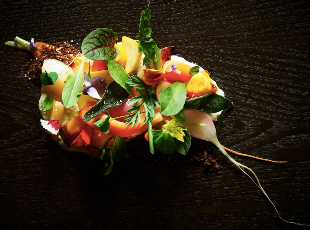 Niche, Honey Vegetable Salad by Chef Gerard Craft, Food Presentation Gallery
