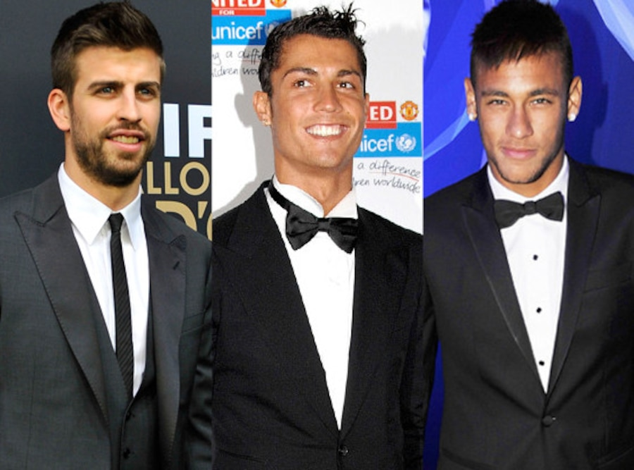 Gerard Pique, Cristiano Renaldo, Neymar de Silva, On and Off the Field