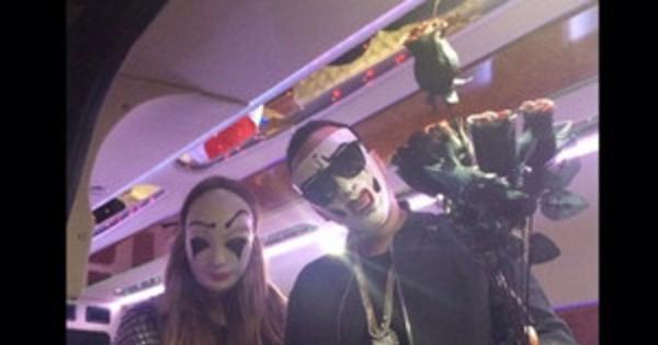 khlo kardashian et french montana portent des masques