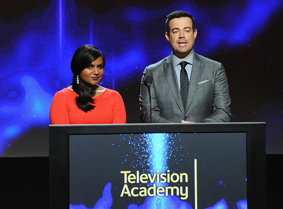 Mindy Kaling, Carson Daly, 2014 Emmy Nominations