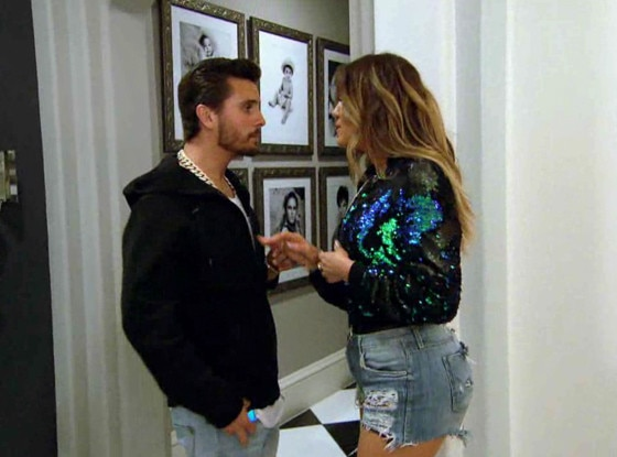 KUWTK Clip, Khloe and Scott