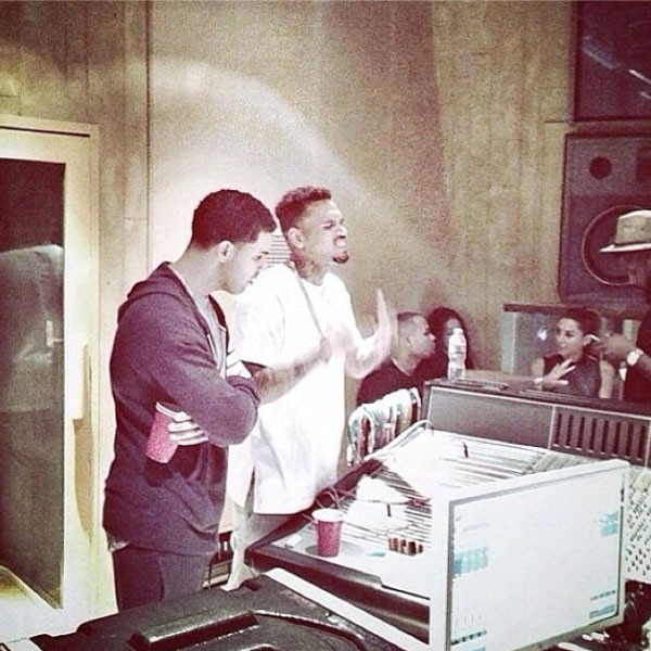 Drake, Chris Brown, Instagram