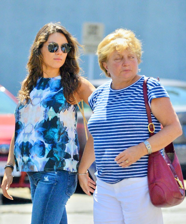 Pregnant Mila Kunis Dresses Baby Bump In Blue Steps Out