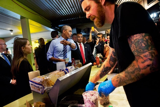 President Obama, The Franklin BBQ
