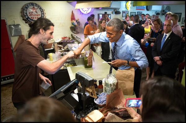 President Obama, The Franklin BBQ