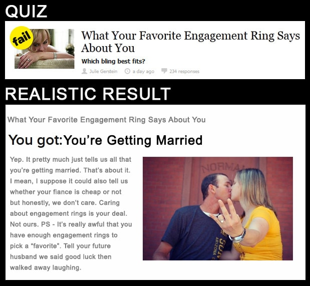 What Your Favorite Engagement Ring Says About You From Realistic Buzzfeed Quiz Results