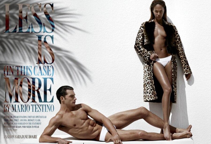 V Magazine, Joan Smalls, Sean O'Pry