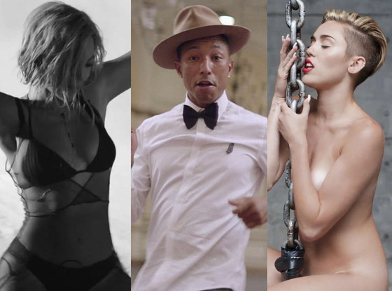 Beyonce, Drunk In Love, Miley Cyrus, Wrecking Ball, Pharrell Williams, Happy
