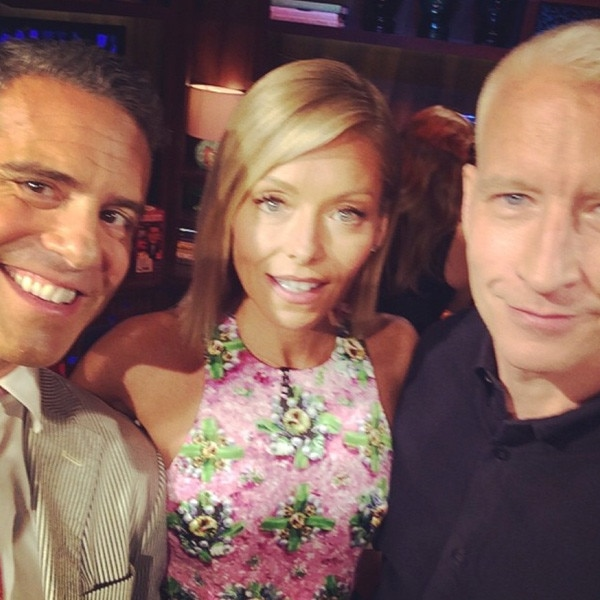 Stupendous Kelly Ripas Friend Andy Cohen Cant Believe Michael Strahan Left Hairstyle Inspiration Daily Dogsangcom