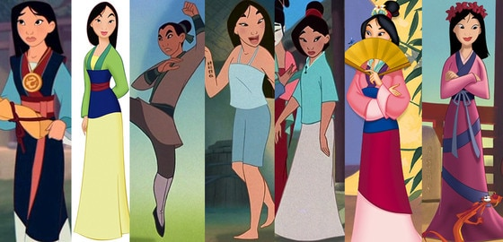 Mulan, Disney Princesses Wardrobe