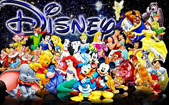 Disney Characters Collage