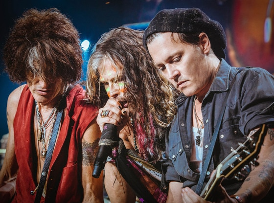 Johnny Depp, Aerosmith, Joe Perry, Steven Tyler