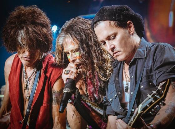 Johnny Depp, Aerosmith, Joe Perry, Steven Tyler