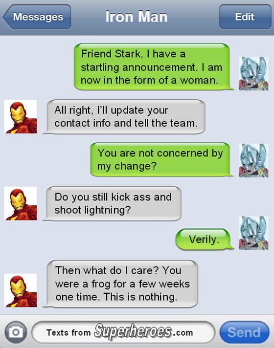 Superheroes Texts