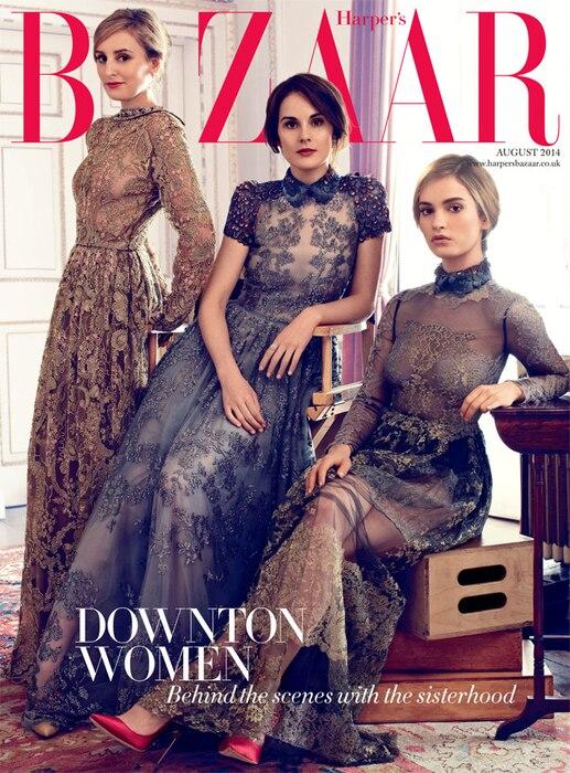 Downton Abbey, Harper's Bazaar, Laura Carmichael, Michelle Dockery, Lily James