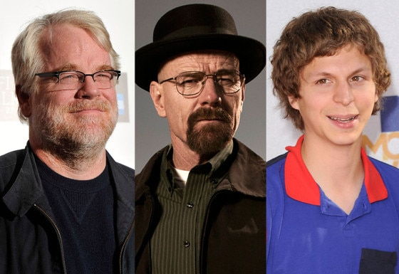 Philip Seymour Hoffman, Bryan Cranston, Breaking Bad, Michael Cera