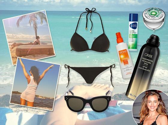 Irina Shayk, What's in Her Beach Bag?