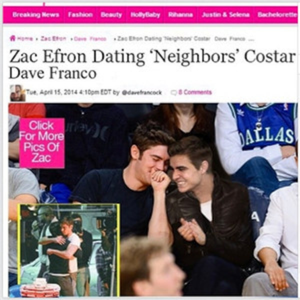 Zac Efron Hookup Neighbors Co Star James Franco