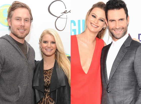 Jessica Simpson, Eric Johnson, Behati Prinsloo, Adam Levine, Summer Couples