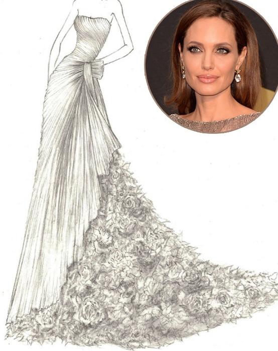 Angelina Jolie, Yumi, Katsura, Wedding Dress